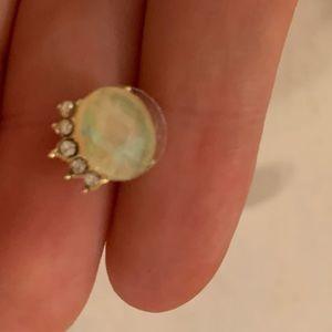 Faux diamond drip stud earrings